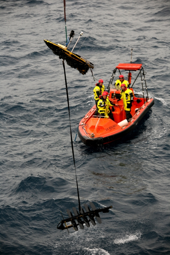 Recovery of Wave Glider after 3 month deployment