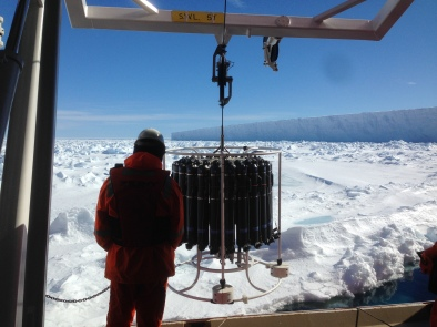 CTD near ice shelf