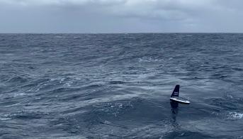 Sailbuoy sailing away from the ship