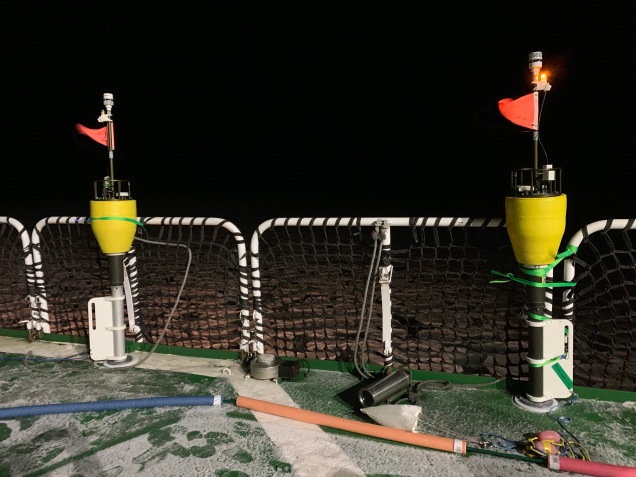 SWIFT buoy testing on deck
