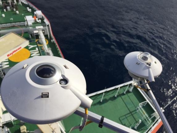 Radiometer sensors on the mast
